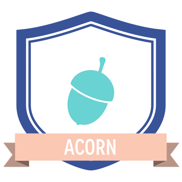 """Badge icon """"Acorn (1685)"""" provided by Proletkult Graphik, from The Noun Project under Creative Commons - Attribution (CC BY 3.0)"""